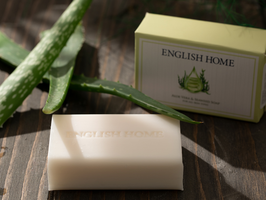 Aloe Vera and Seaweed Essence Natural Soap 100 Gr Beige