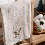 Winter Soul Embroidered Packaged Souvenir Towel 50x80 Cm Ecru