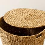 Natural Story Straw Hand Work Laundry Basket