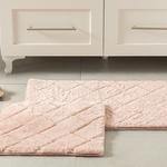 Rabbit Polyester Bath Mat Set 50x80 - 45x50 Cm Powder