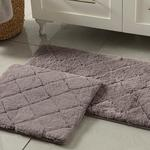 Rabbit Polyester Bath Mat Set 50x80 - 45x50 Cm Dark Damson
