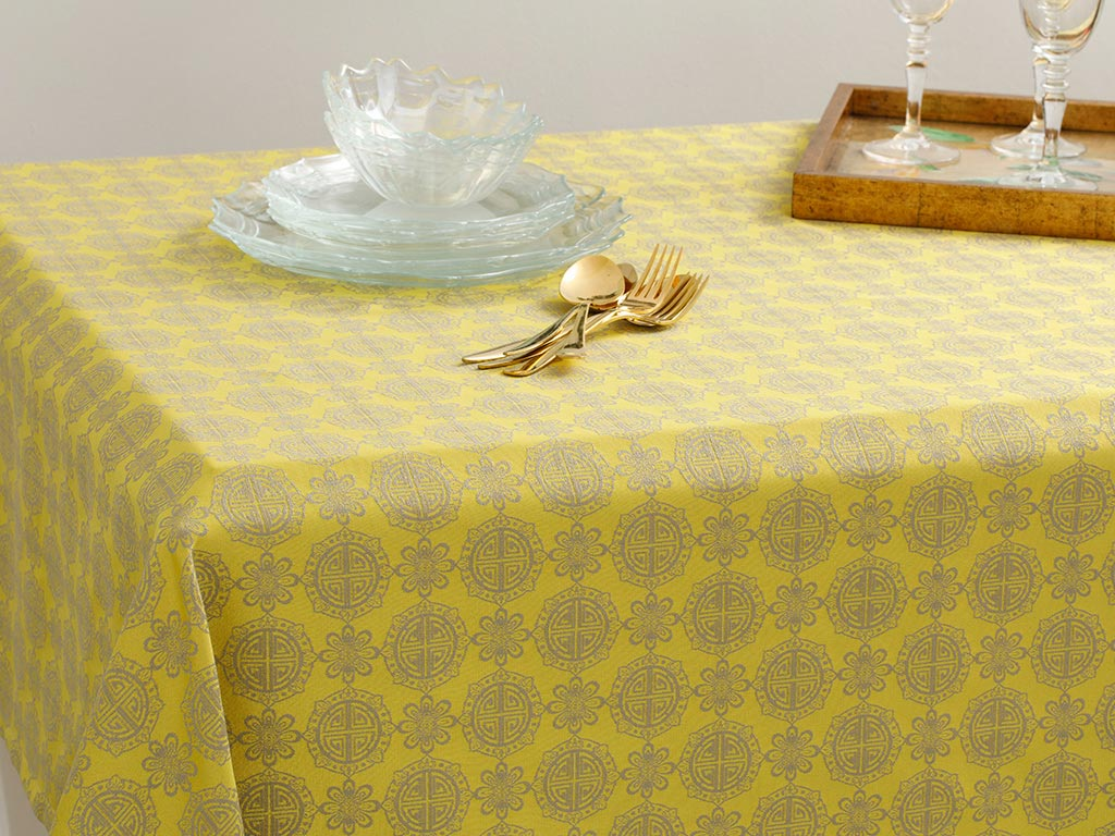 Sely Polycotton Oblong Table Cloth 150x200 Cm Kiwi Green