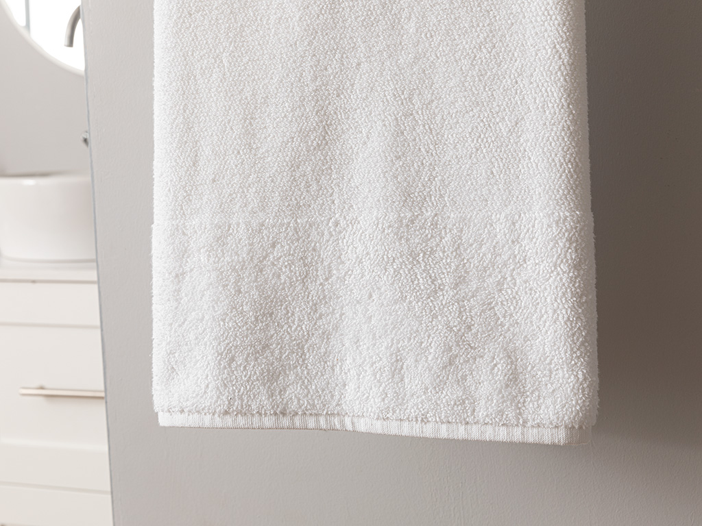 Rice Stitch Bath Towel 90x150 Cm White