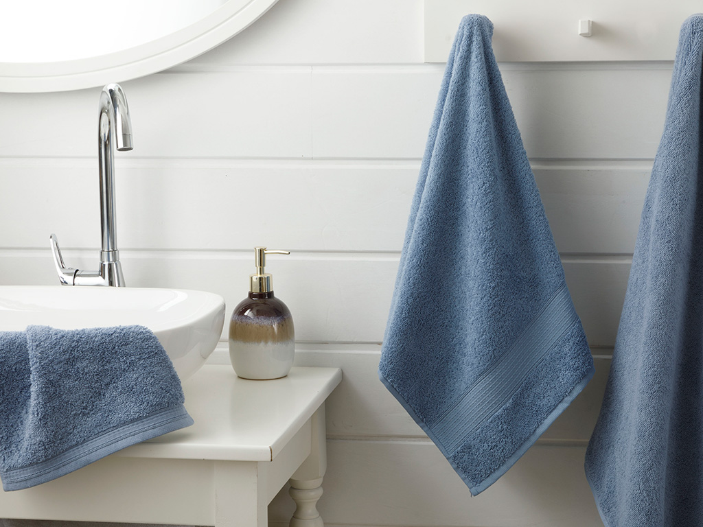 Pure Basic Hand Towel 30x30 Cm Navy Blue