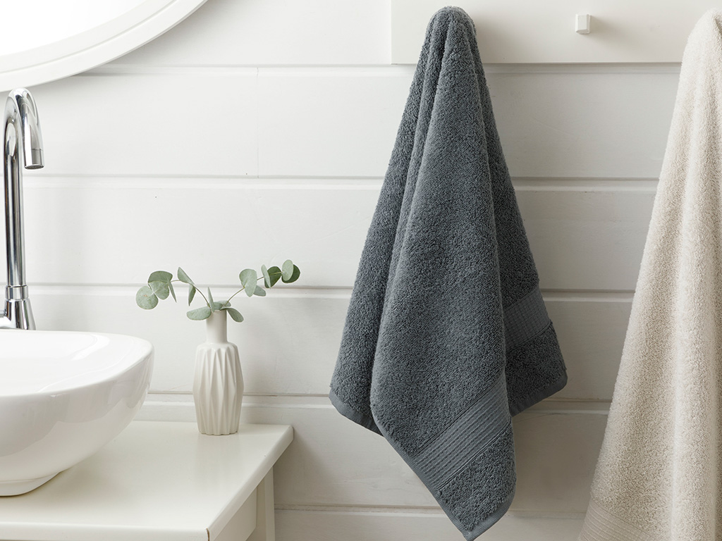 Pure Basic Face Towel 50x90 Cm Anthracite