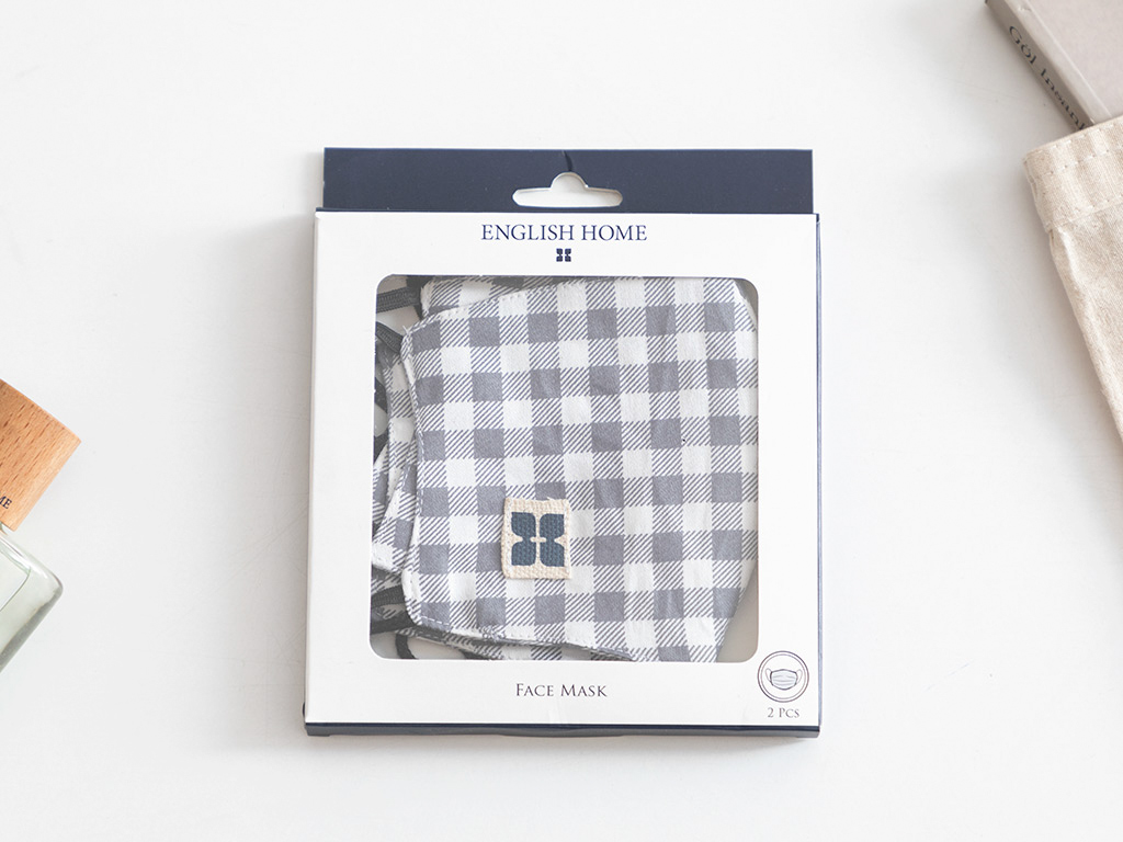 Scotch Plaid Cotton Mask Gri