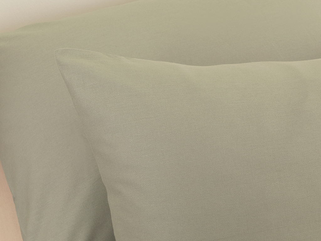 Plain Cotton Pillowcase 2 Piece 50x70 Cm Sage Green