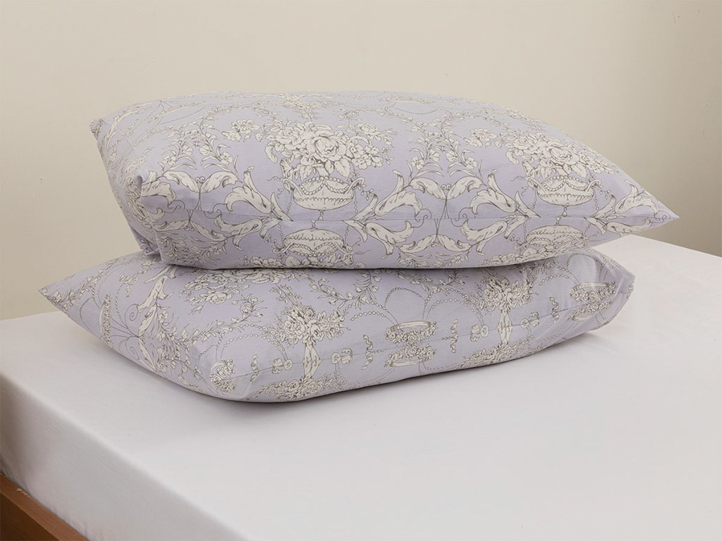 Palais Roses Cotton Pillowcase 2 Piece 50x70 Cm Lilac