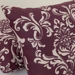 Ornamental Damasque Cotton Pillowcase 2 Piece 50x70 Cm Damson