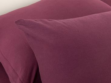 Plain Cotton Fitted Bed Sheet Set Single Size 100x200 Cm Cherry
