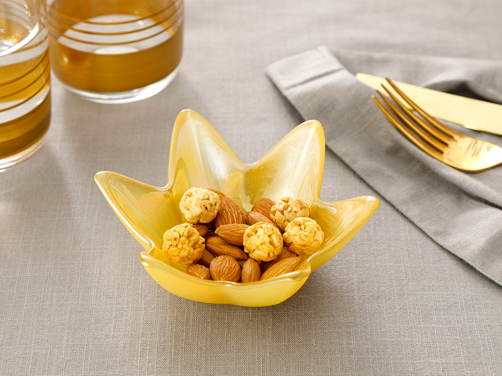Star Glass Appetizers 12 Cm Yellow