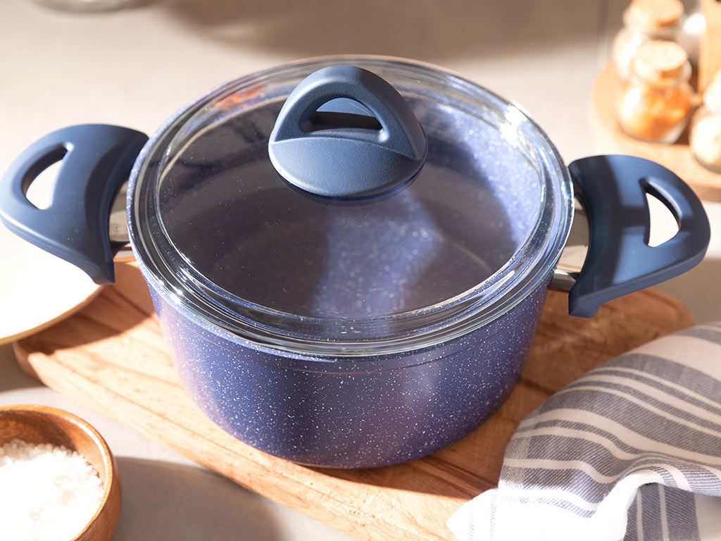 Pure Granit Cooking Pot 20 Cm Navy Blue