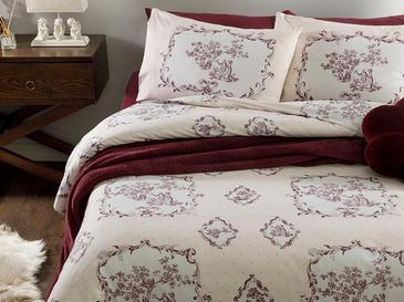 Chic Tulie Cotton Duvet Cover Set Single Size 160x220 Cm Damson