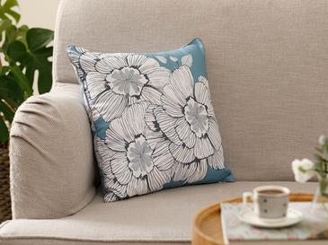 Monochrome Microfiber Cushion Cover 45x45 Cm Blue