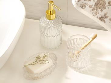 Lucia Glass 3 Set Bathroom Set Şeffaf