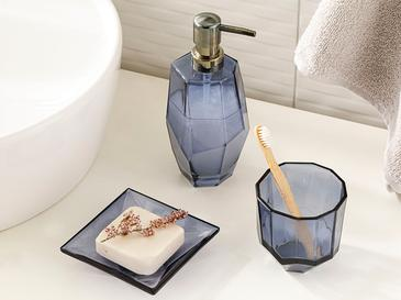 Greta Glass 3 Set Bathroom Set Lacivert