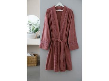 Lacy Laced Bathrobe S-M Dusty Rose