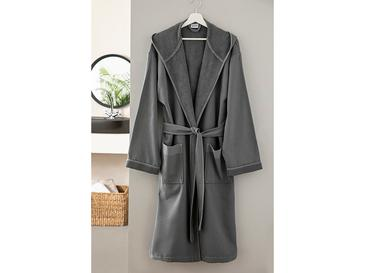 Vitality Poplin Men's Bathrobe S-M Anthracite