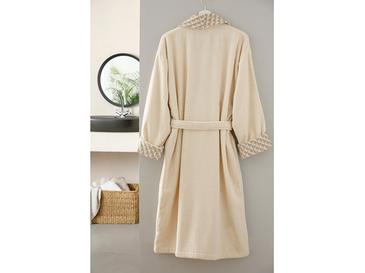 Elite Jacquard Men's Bathrobe S-M Beige