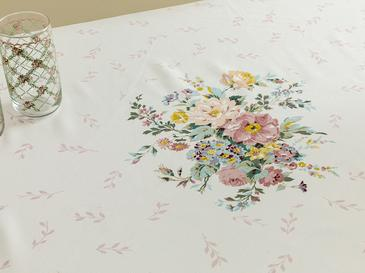 Rosalinda 4 Polyester Oblong Table Cloth 150x200 Cm White-Blue