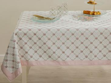 Polyestere With Pillow Lace Table Cloth 100x100 Cm.