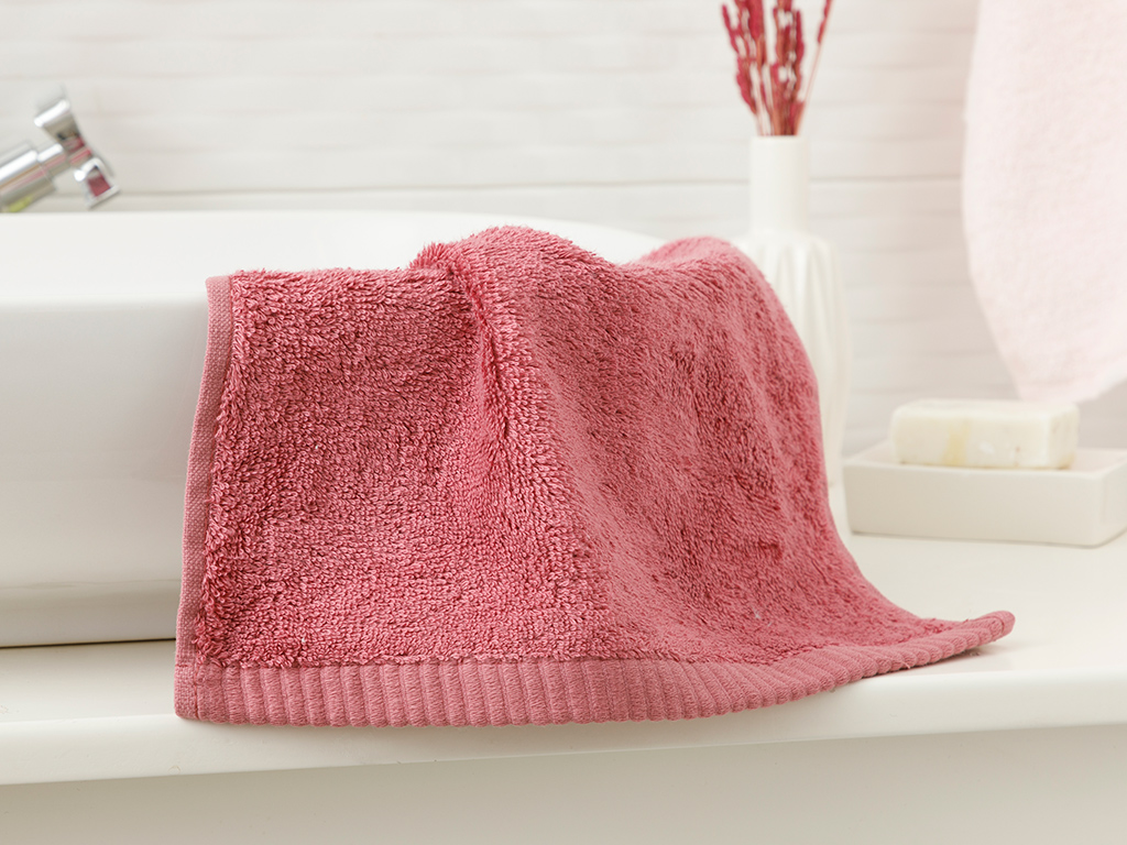 Leafy Bamboo Hand Towel 30x50 Cm Dusty Rose