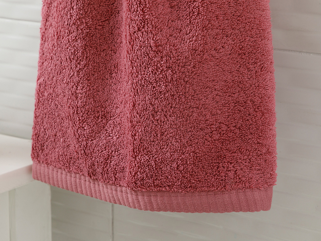 Leafy Bamboo Face Towel 50x90 Cm Dusty Rose