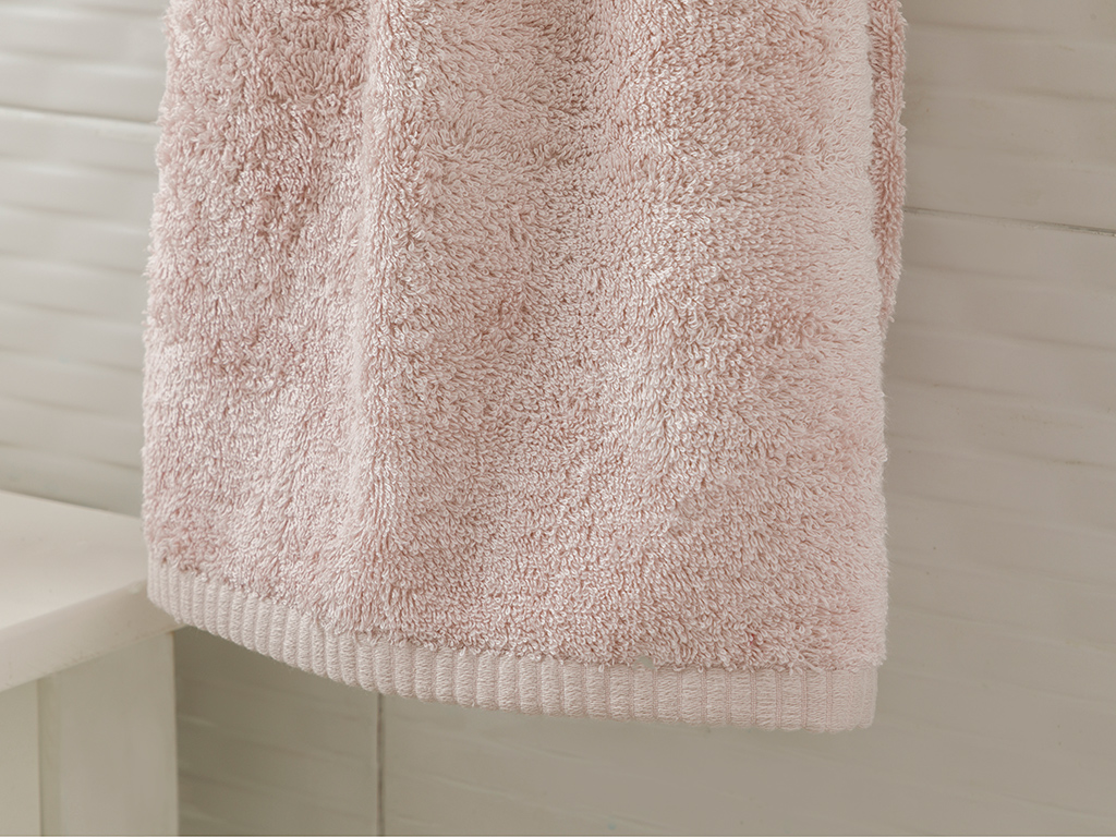 Leafy Bamboo Face Towel 50x90 Cm Powder Pink