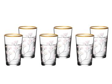 Marla Glass 6 Set Served With Coffee Water Glass 100 Ml Renkli