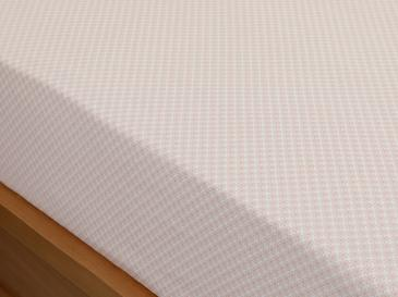 Petit Felurs Cotton Fitted Bed Sheet Super King 200x200 Cm Powder