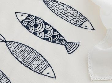 Marin Embroidered Table Cloth 150x200 Cm Lacivert