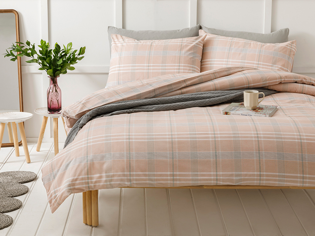 Cottony For One Person Duvet Cover Set Pack 160x220 Cm Pembe