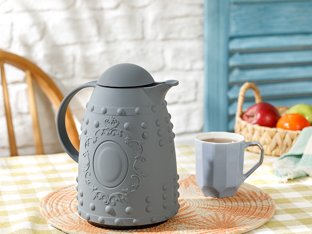 Creative Acrylic Soft Touch Thermos 1l Grey