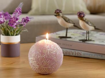 Butterfly Candle 100x49x77 Cm Lila