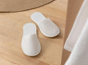 Fresh Touch Coverlet Spa Slıppers L. White