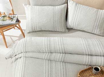 Painted Yarn For One Person Duvet Cover Set 160x220 Cm Gri