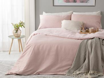 Painted Yarn Double Person Duvet Cover Set 200x220 Cm. Pembe