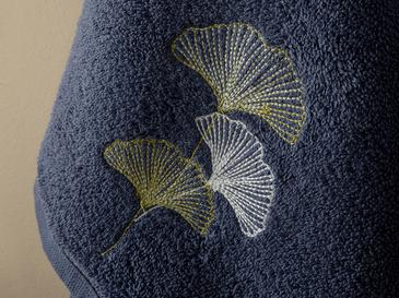 Embroidered Face Towel 50x80 Cm Dark Blue