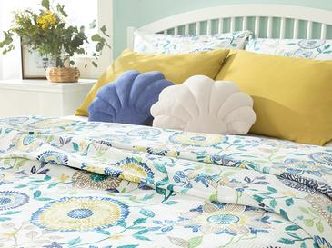 Chrysant Printed Double Person Summer Blanket 200x220 Cm. Blue