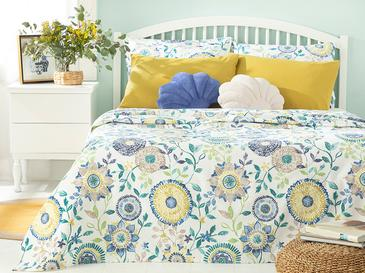 Chrysant Printed For One Person Summer Blanket 150x220 Cm Blue
