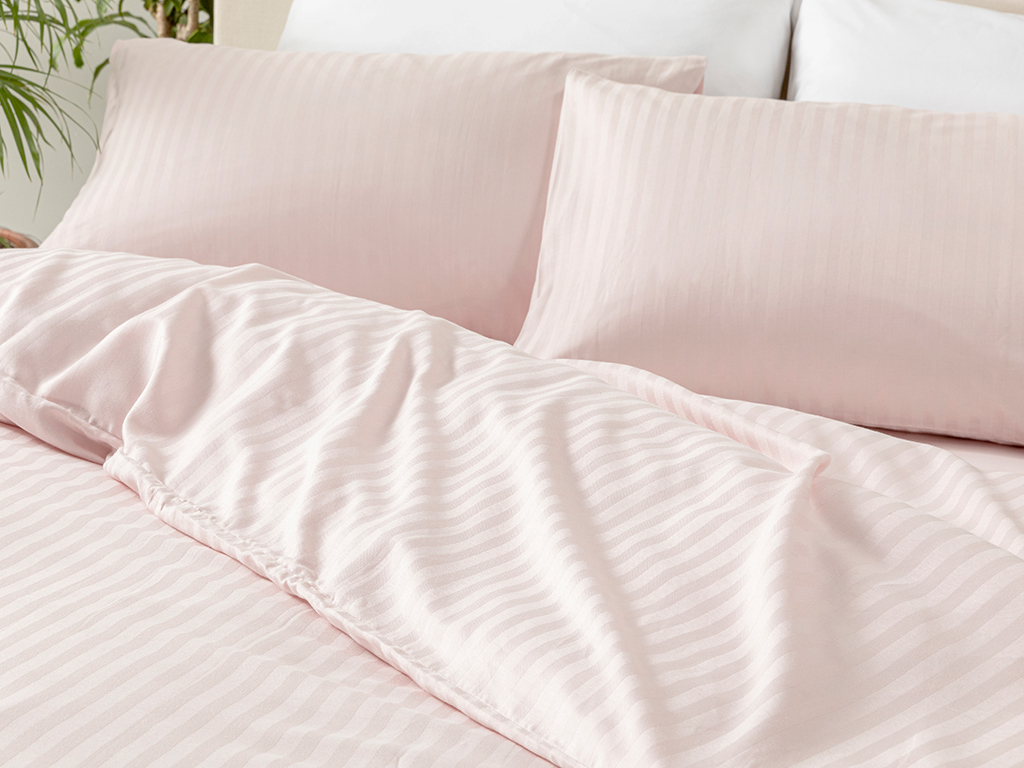 Crystal Duvet Cover Full Set Double Size 200x220 Cm Pink