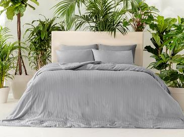 Crystal Silky Twill Duvet Cover Full Set Double Size 200x2020 Cm Gray