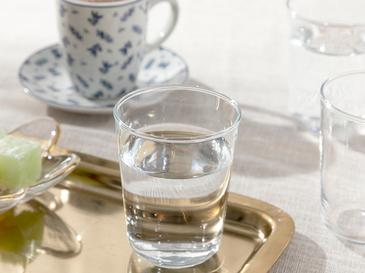 Hira Glass 6 Set Served With Coffee Water Glass 12,9x12,5x2,3 Cm Transparent