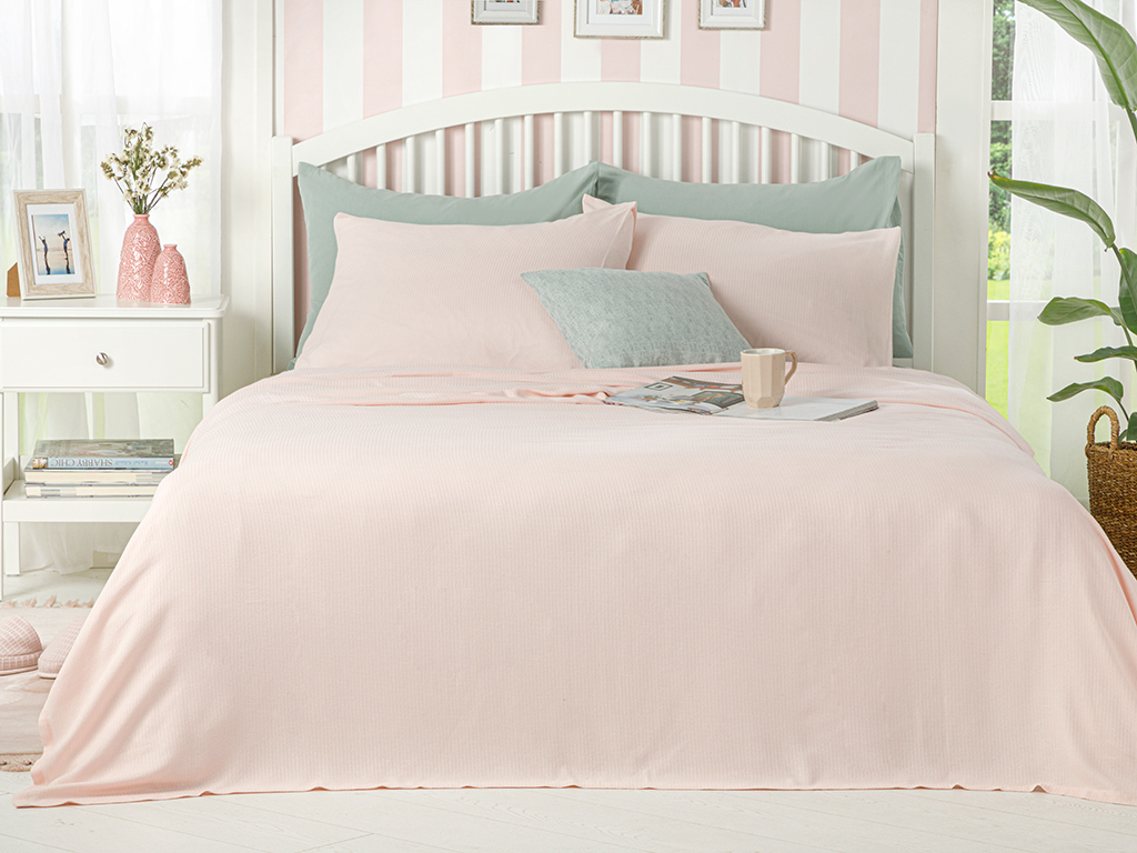Cool Stripe Soft Touch For One Person 150x220 Cm Pembe