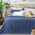 Comb For One Person Summer Blanket 150x220 Cm Dark Blue