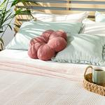 Comb Double Person Summer Blanket 200x220 Cm. Pink