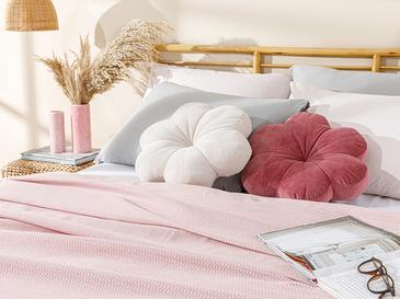 Painted Yarn For One Person Summer Blanket 150x220 Cm Pink