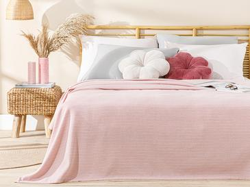 Painted Yarn Double Person Summer Blanket 200x220 Cm. Pink